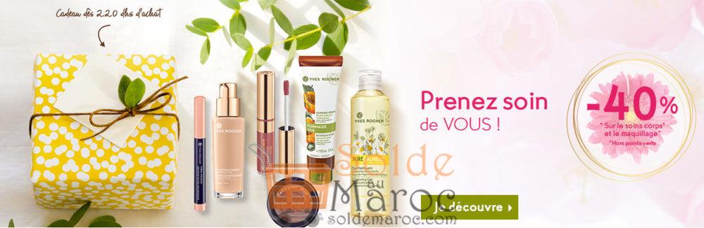 Promo Yves Rocher Maroc -40 % sur le soins corps et le maquillage