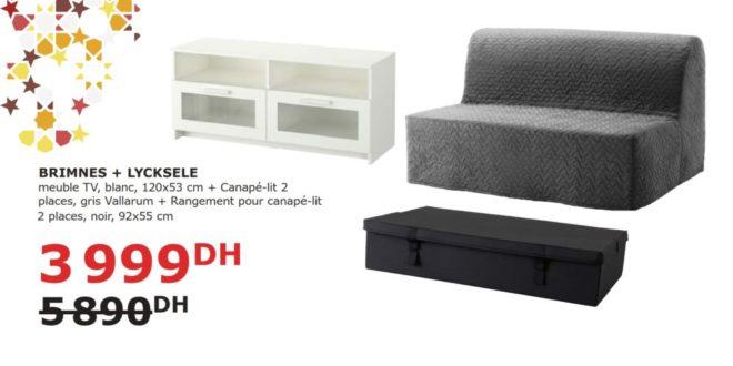 soldes ikea maroc meuble tv canap lit son rangement 3999dhs les soldes et promotions du maroc. Black Bedroom Furniture Sets. Home Design Ideas