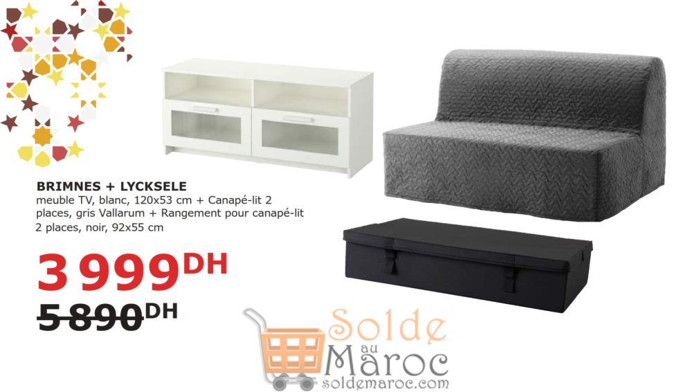 soldes ikea maroc meuble tv canap lit son rangement. Black Bedroom Furniture Sets. Home Design Ideas