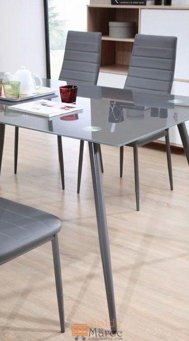 Promo Azura Home Ensemble table à manger SWAN 6 chaises 3890Dhs au lieu de 4890Dhs