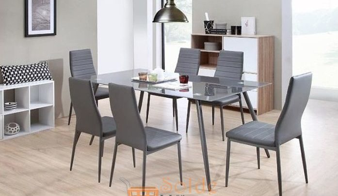 Photo of Promo Azura Home Ensemble table à manger SWAN 6 chaises 3890Dhs