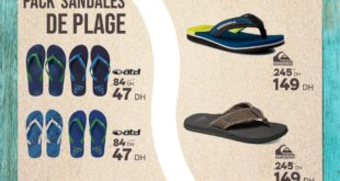 Promo Sport Zone Maroc Sandale de Plage