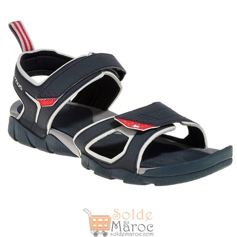 Promo Decathlon Sandales de Randonnée arpenaz 50 homme noir et rouge 149Dhs au lieu de 179Dhs