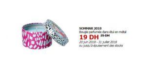 Soldes Ikea Maroc Bougie parfumée dans étui en métal SOMMAR bleu 19Dhs au lieu de 35Dhs