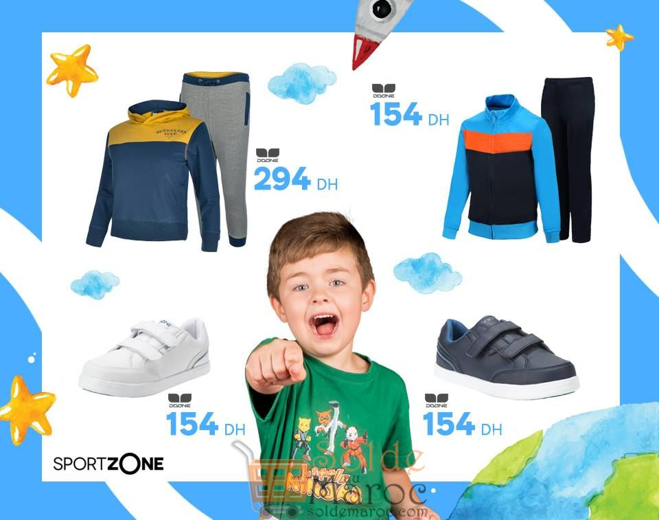 Spéciale Aid Al Fitr chez Sport Zone Maroc Vêtements et chaussures Garçons