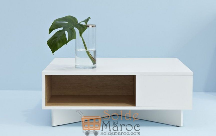 Promo Azura Home TABLE BASSE QUITO 80CM 599Dhs au lieu de 1800Dhs