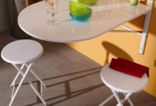 Nouveau Odesign Maroc Table Murale SINA + 2 tabourets 1090Dhs