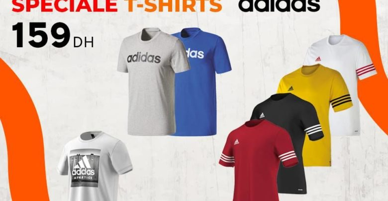 Photo of Soldes Sport Zone Maroc Spéciale Promo Tee-shirt Adidas 159Dhs
