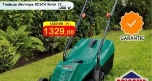 Promo Bricoma Tondeuses à gazon électriques Bosch 1329Dhs au lieu de 1550Dhs