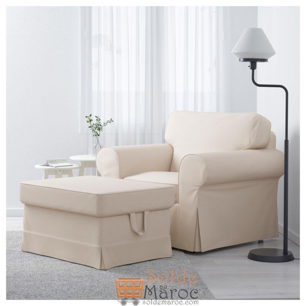 Soldes Ikea Maroc Repose–pieds EKTORP Lofallet beige 874Dhs au lieu de 1059Dhs