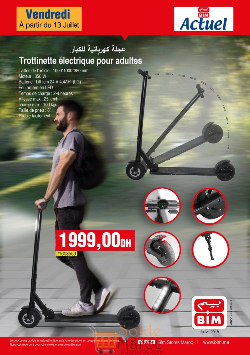 Offre Bim Maroc Trottinette électrique 1999Dhs