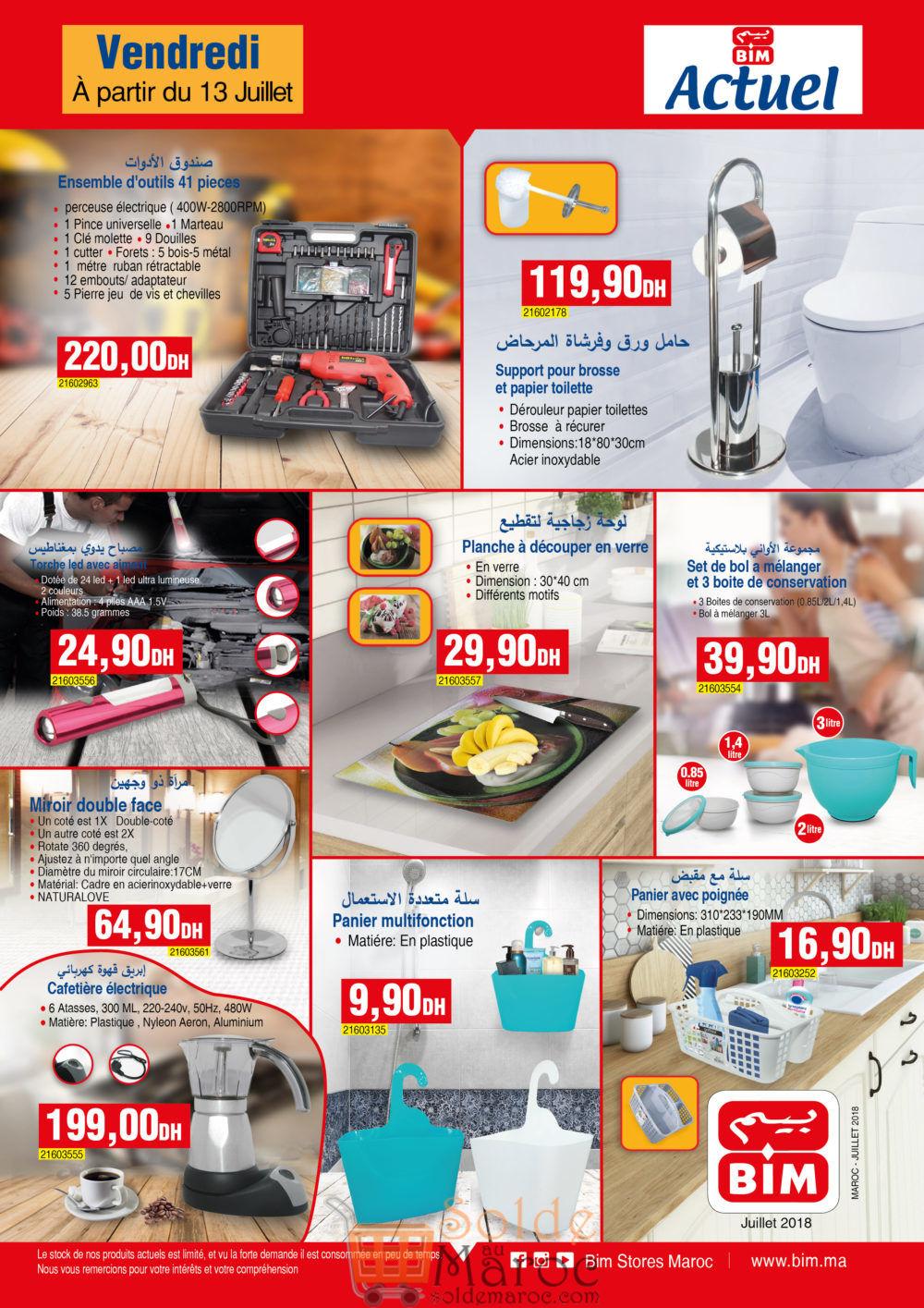 Catalogue Bim Maroc du Vendredi 13 Juillet 2018