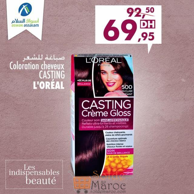 Promo Aswak Assalam Casting L'OREAL 69.95Dhs au lieu de 92.90Dhs