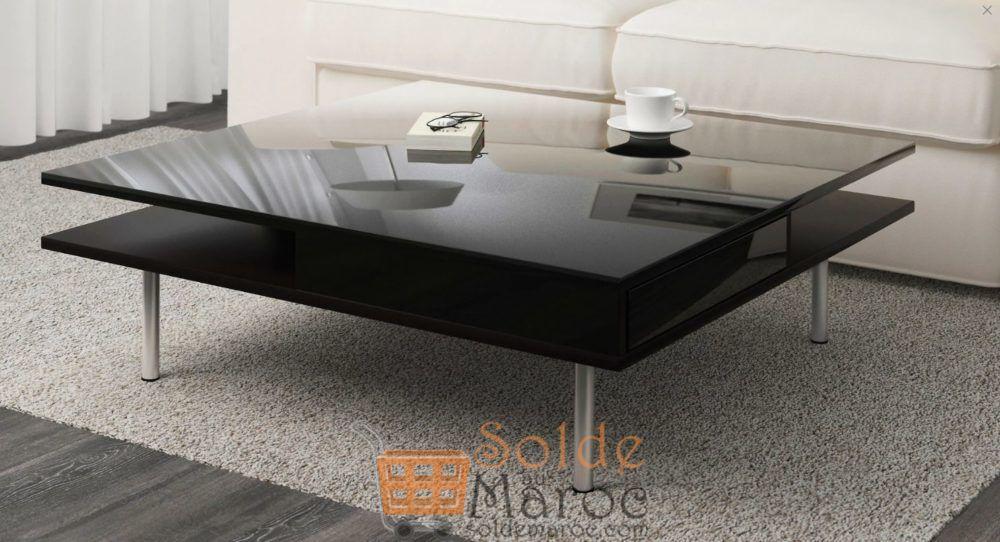 Promo Ikea Maroc Table basse noir ultra-brillant TOFTERYD 2995Dhs au lieu de 3995Dhs