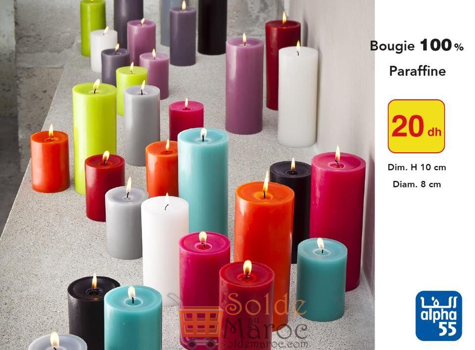 Promo Alpha55 Bougies Parfumées 20Dhs