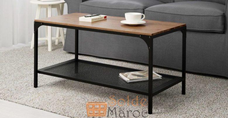 Photo of Soldes Ikea Maroc Table basse noir FJÄLLBO 499Dhs