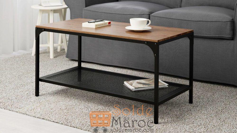 Soldes Ikea Maroc Table basse noir FJÄLLBO 499Dhs au lieu de 699Dhs