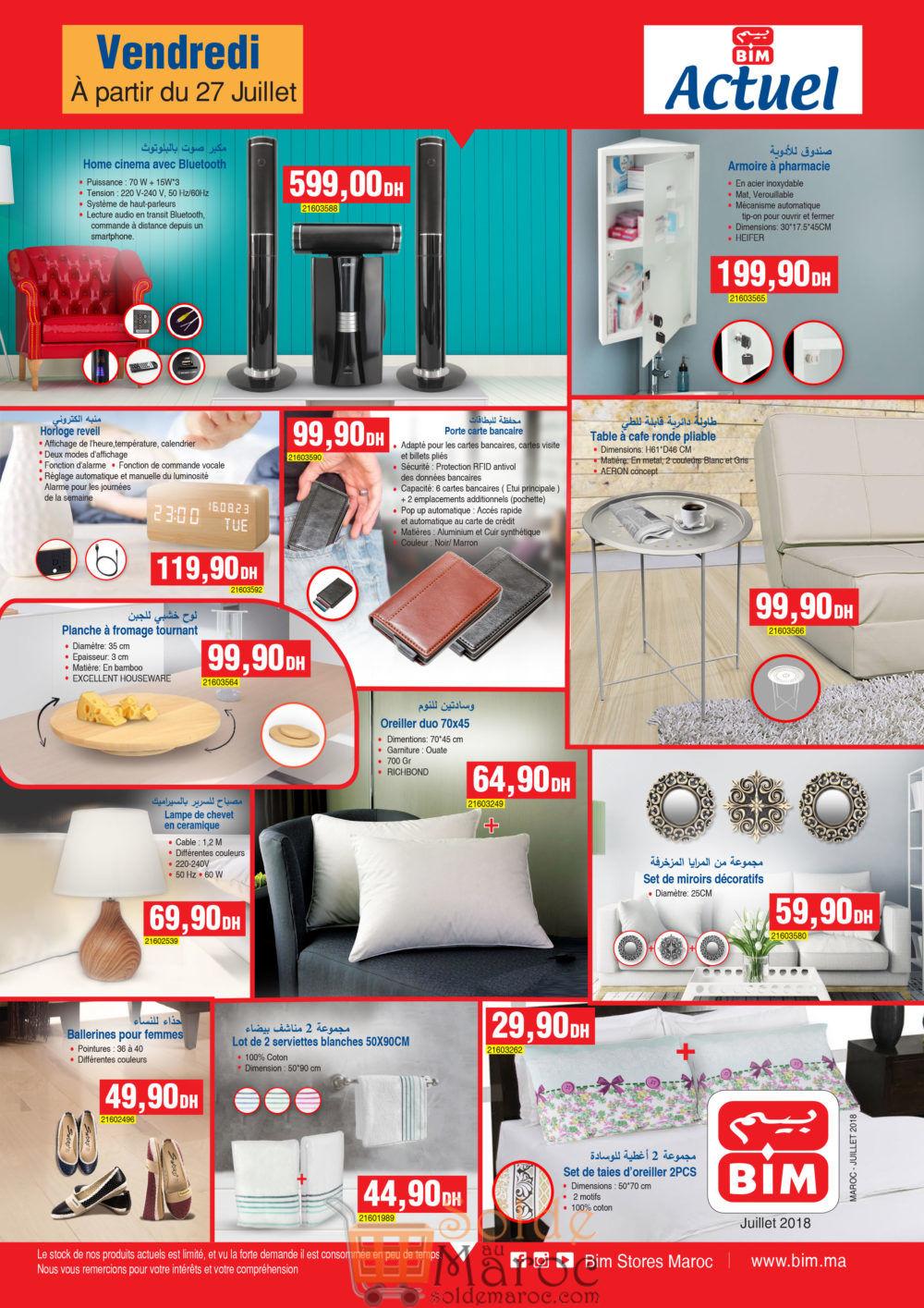 Catalogue Bim Maroc du Vendredi 27 Juillet 2018