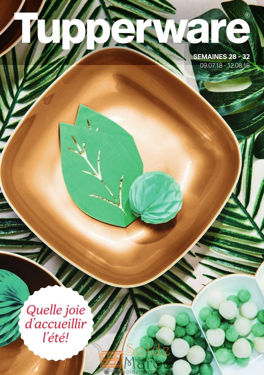 Catalogue Tupperware Maroc Summer Supplement du 9 Juillet au 12 Août 2018