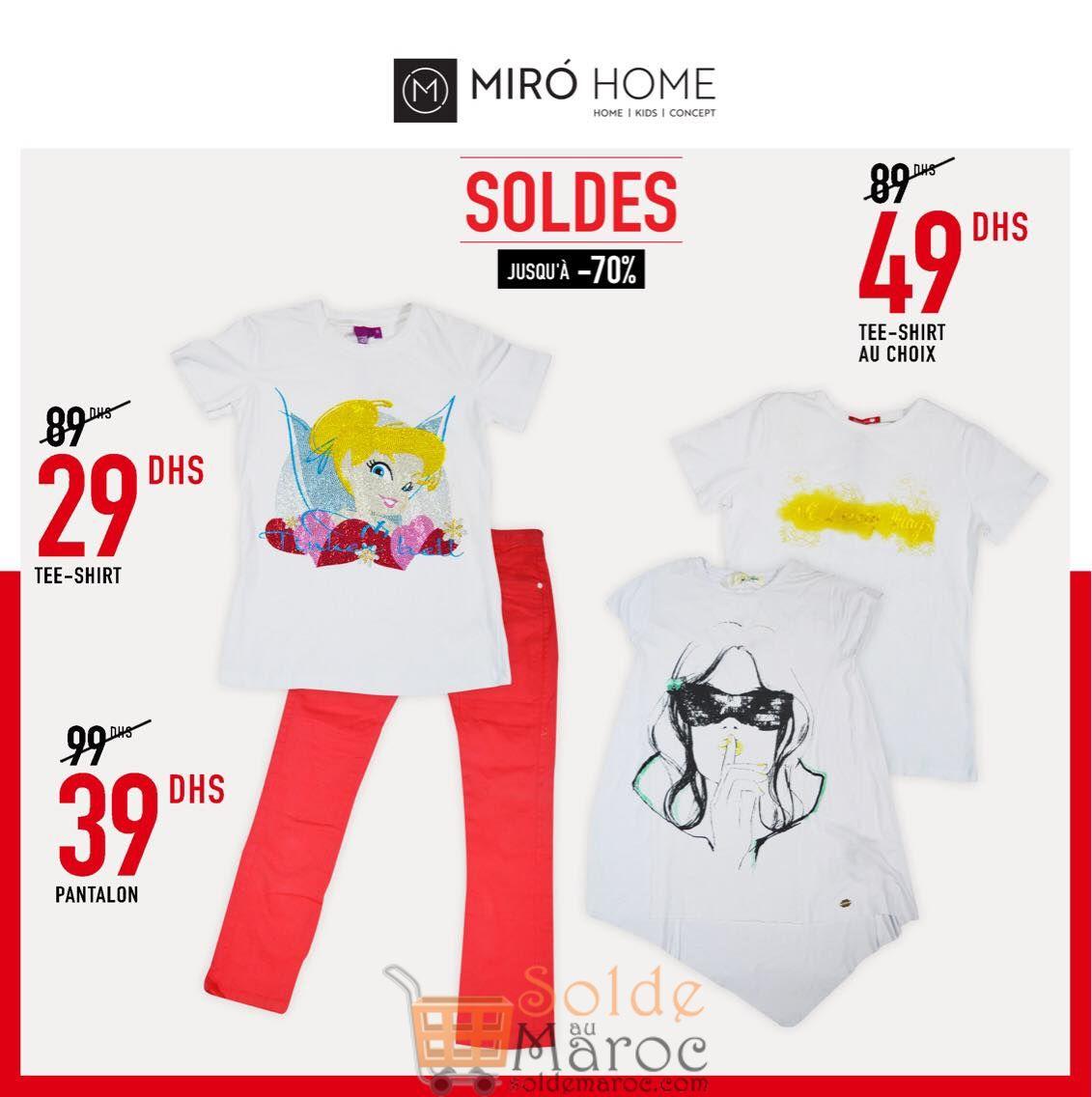 Soldes Miro Home Vêtements d'été Filles et Garçon