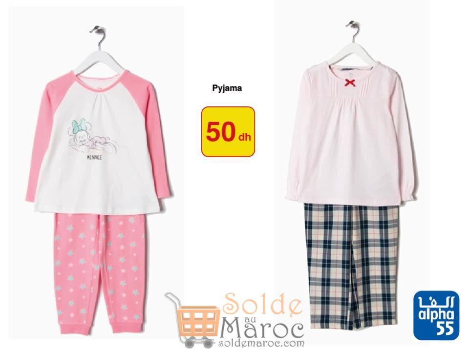 Soldes Alpha55 Pyjamas Filles tout à 50Dhs