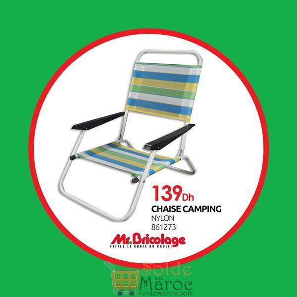 Offre d'été Mr Bricolage Maroc Chaise Pliante pour la plage et Camping