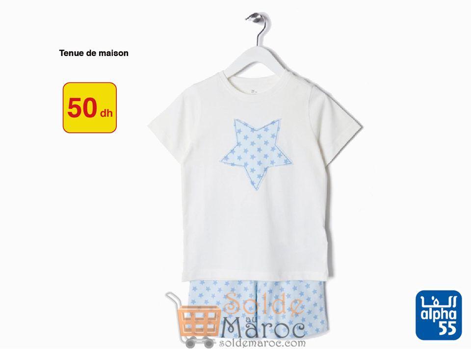 Promo Alpha55 Pyjama d'été pour Filles tout à 50Dhs