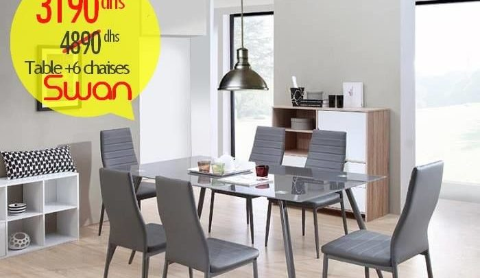 Photo of Promo Azura Home Table + 6 Chaises SWAN 3190Dhs