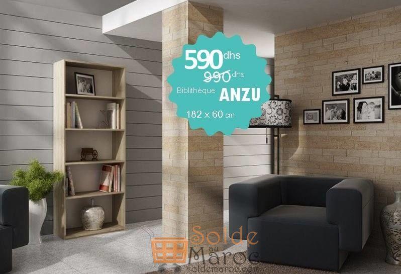 Promo Azura Home BIBLIOTHÈQUE ANZU 60 CM 590Dhs au lieu de 990Dhs