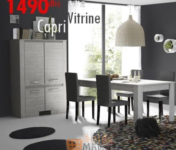 Promo Azura Home VITRINE CAPRI GRI 1490Dhs au lieu de 2540Dhs