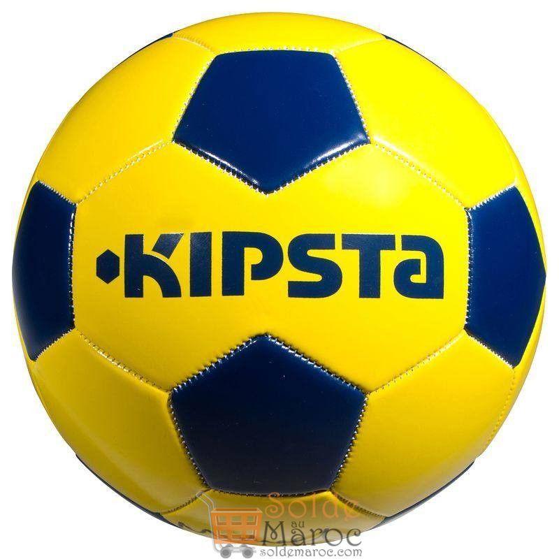 Soldes Decathlon Ballon de football First Kick taille 4 jaune bleu 26Dhs au lieu de 35Dhs