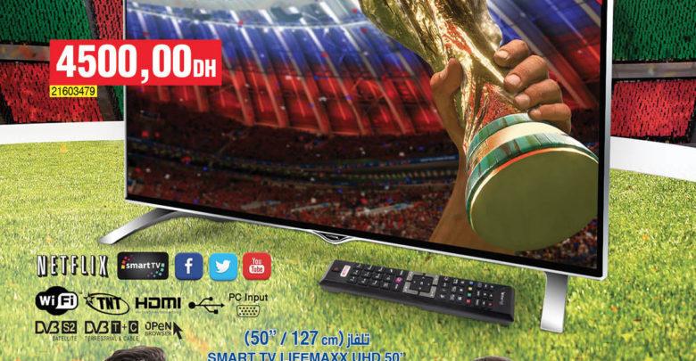 Photo of Promo Bim Maroc Région Mohamedia Smart TV Lifemaxx 50″ 4K 4500Dhs