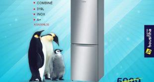 Promo Electro Bousfiha Réfrigérateur NO FROST INOX ANTI-TRACE avec compartiment multibox 5299Dhs au lieu de 5999Dhs