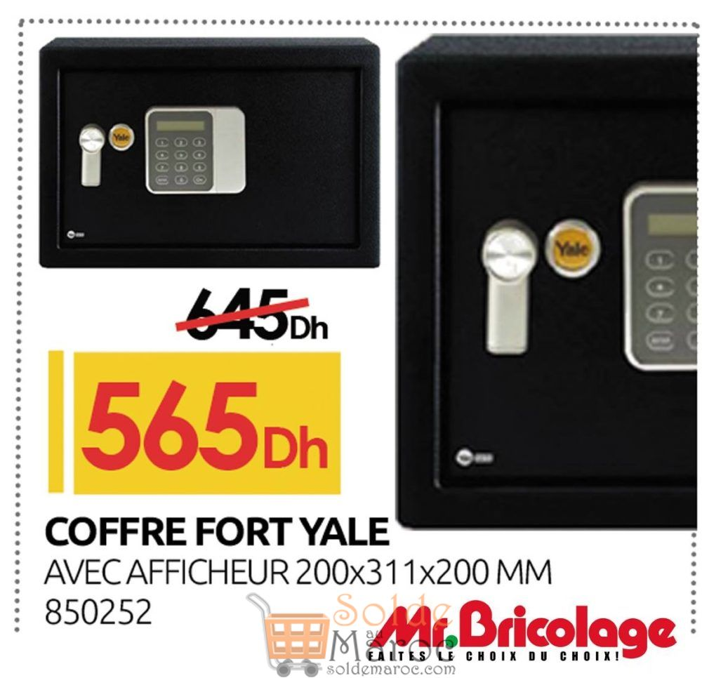 promo mr bricolage maroc coffre fort yale 565dhs les soldes et promotions du maroc. Black Bedroom Furniture Sets. Home Design Ideas