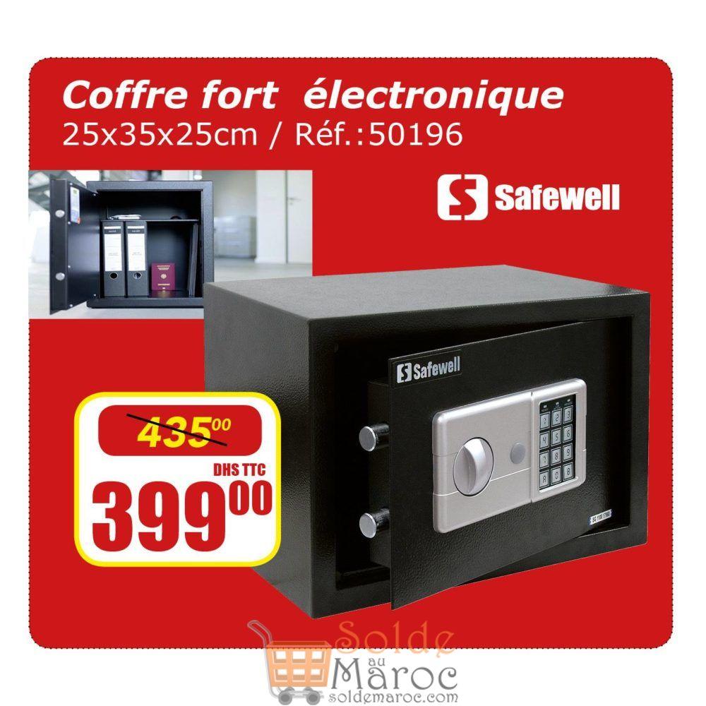 Promo Bricoma Coffre Fort électrique SAFEWELL 399Dhs au lieu de 435Dhs
