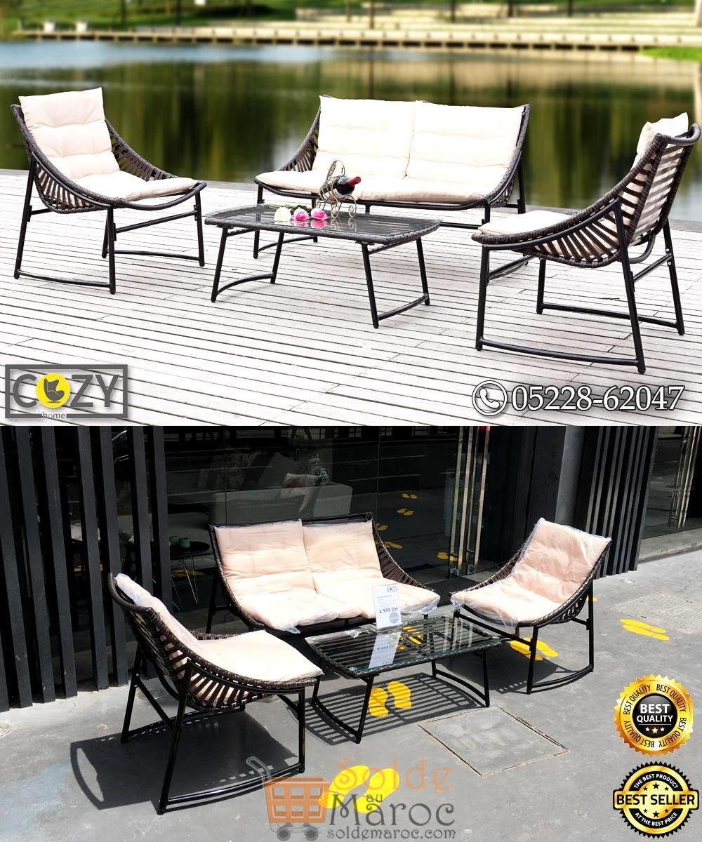Promo Cozy Home 1 CANAPE 2P + 2 CANAPE 1P + TABLE BASSE 4999Dhs au lieu de 6500Dhs