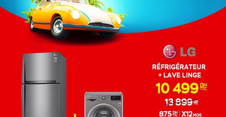 Photo of Promo Electroplanet Duo LG Réfrigérateur + Lave-linge 10499Dhs