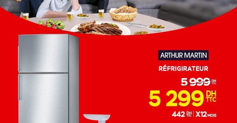 Promo Electroplanet RÉFRIGÉRATEUR AVEC CONGÉLATEUR ARTHUR MARTIN 5299Dhs au lieu de 5999Dhs
