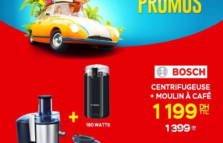 Promo Electroplanet Centrifugeuse et le moulin à café BOSCH 1199Dhs au lieu de 1399Dhs