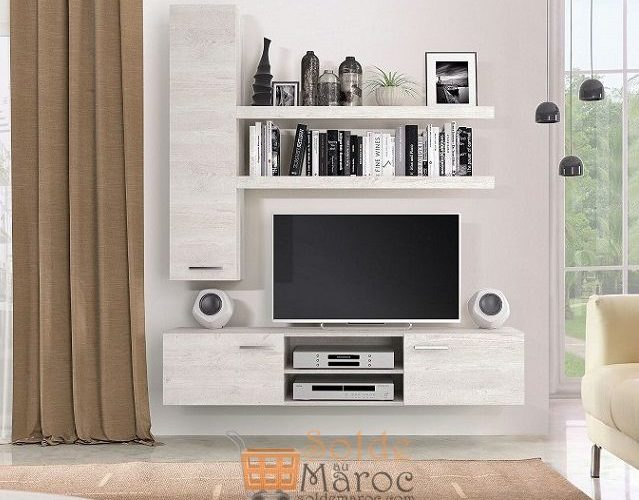 Promo Azura Home ENSEMBLE MEUBLE TV SAND 2590Dhs au lieu de 2890Dhs