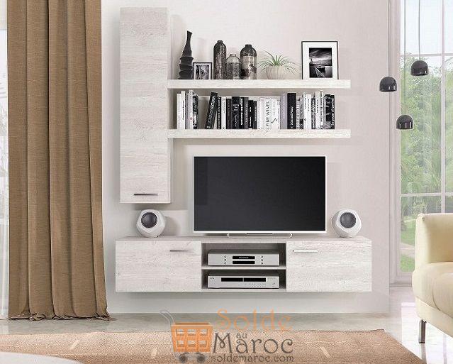 Promo Azura Home ENSEMBLE MEUBLE TV SAND 2590Dhs au lieu de 2890Dhs