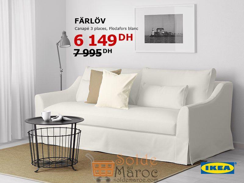 Soldes Ikea Maroc Canapé FARLOV 3places 6149Dhs au lieu de 7995Dhs