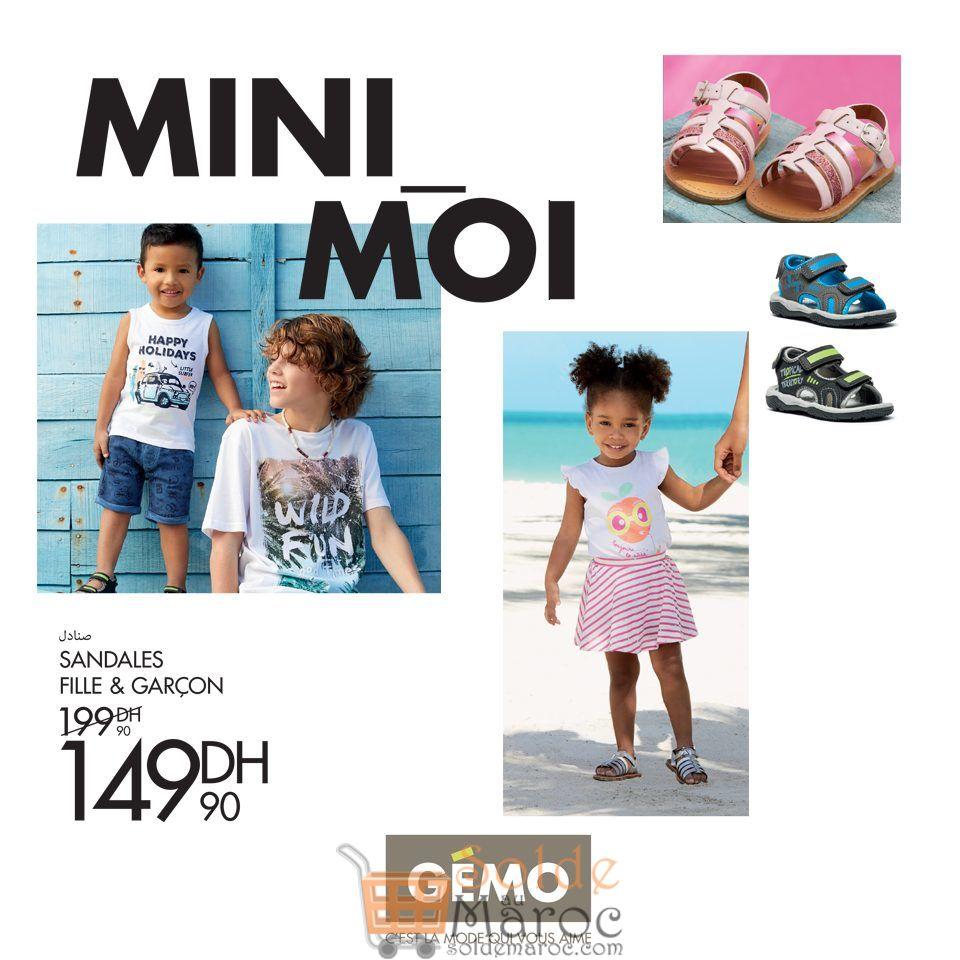 Promo Gémo Maroc Sandales Fille & Garcon 149Dhs au lieu de 199Dhs