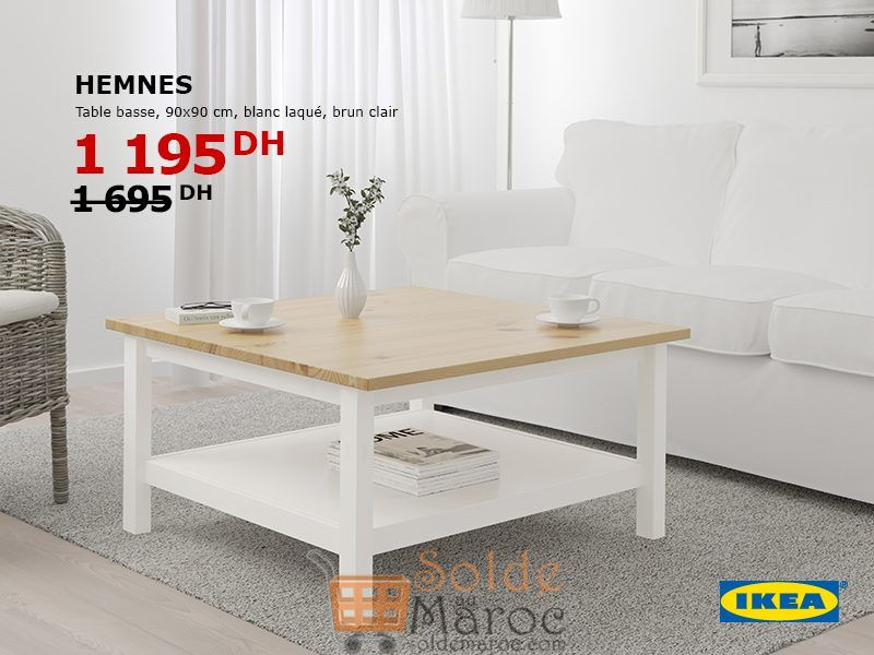 soldes ikea maroc table basse hemnes 1195dhs. Black Bedroom Furniture Sets. Home Design Ideas