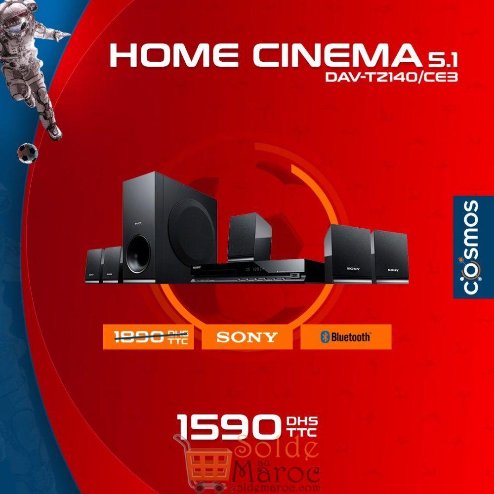 Promo Cosmos Electro Home Cinema SONY 1590Dhs au lieu de 1990Dhs