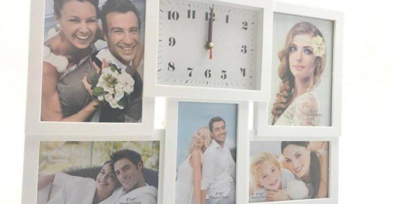 Promo Azura Home HORLOGE CADRE PHOTOS 5 VUES 49Dhs au lieu de 179Dhs