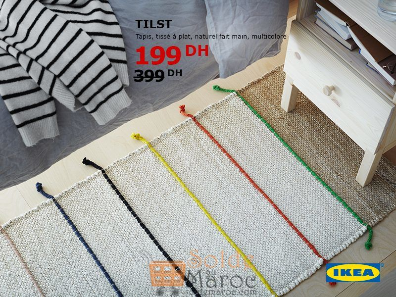soldes ikea maroc tapis tilst multicolore 199dhs. Black Bedroom Furniture Sets. Home Design Ideas