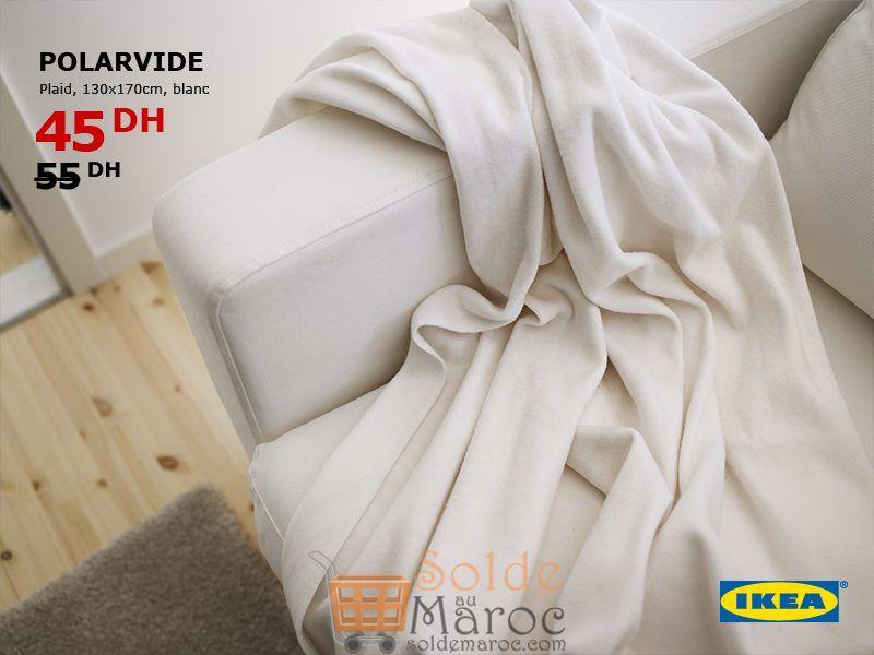 Soldes Ikea Maroc Plaid POLARVIDE 45Dhs au lieu de 55Dhs