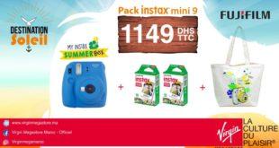 Promo Virgin Megastore Maroc Pack Instax mini 9 1149Dhs