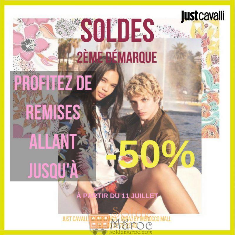 Soldes Just Cavalli Maroc 2ème démarque jusqu'à -50% sur une sélection d'articles